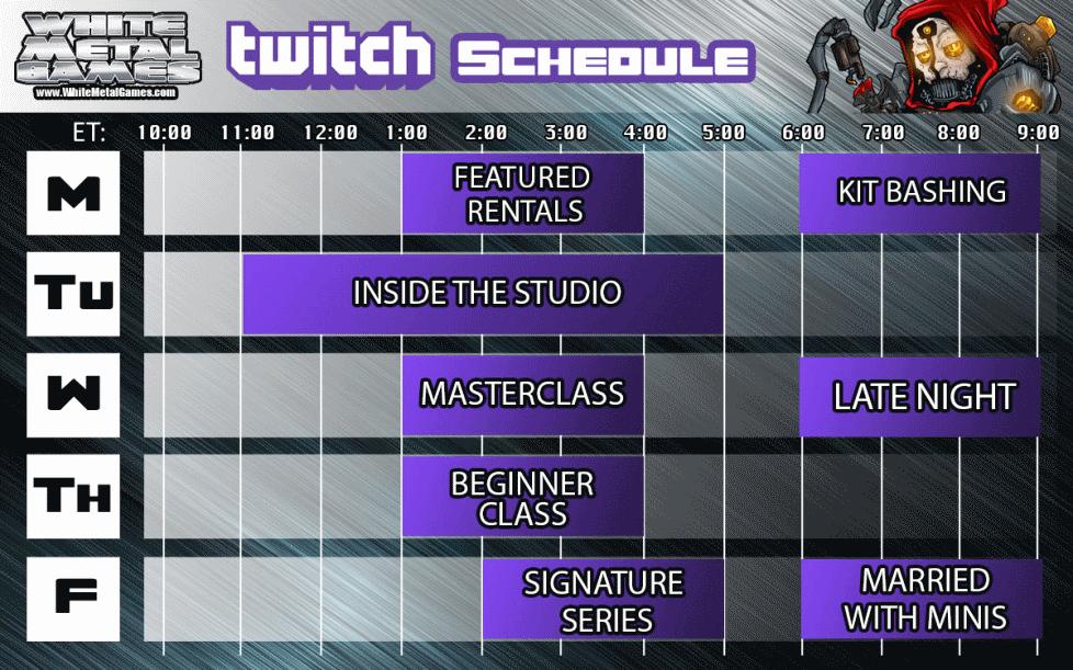 Twitch Schedule